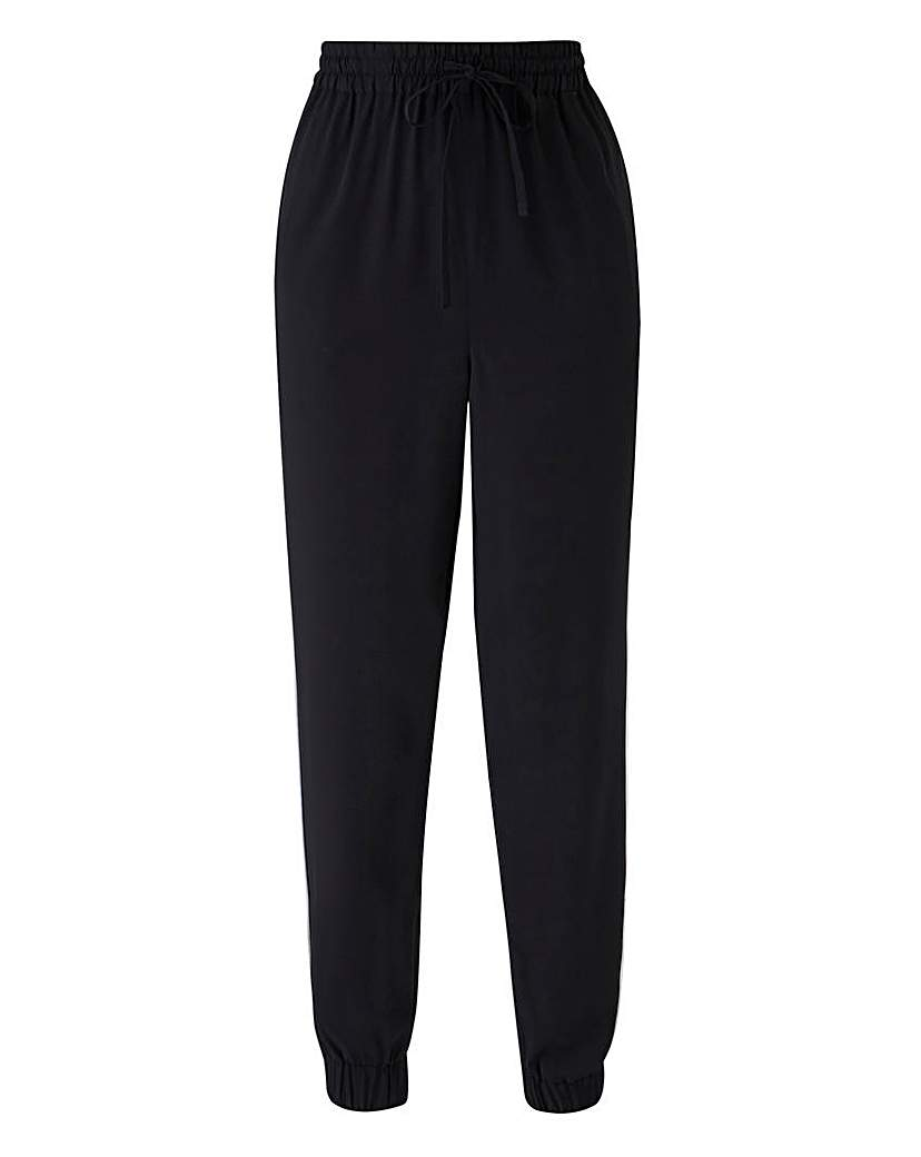 Image of Woven Cuffed Side Pipe Trouser Reg