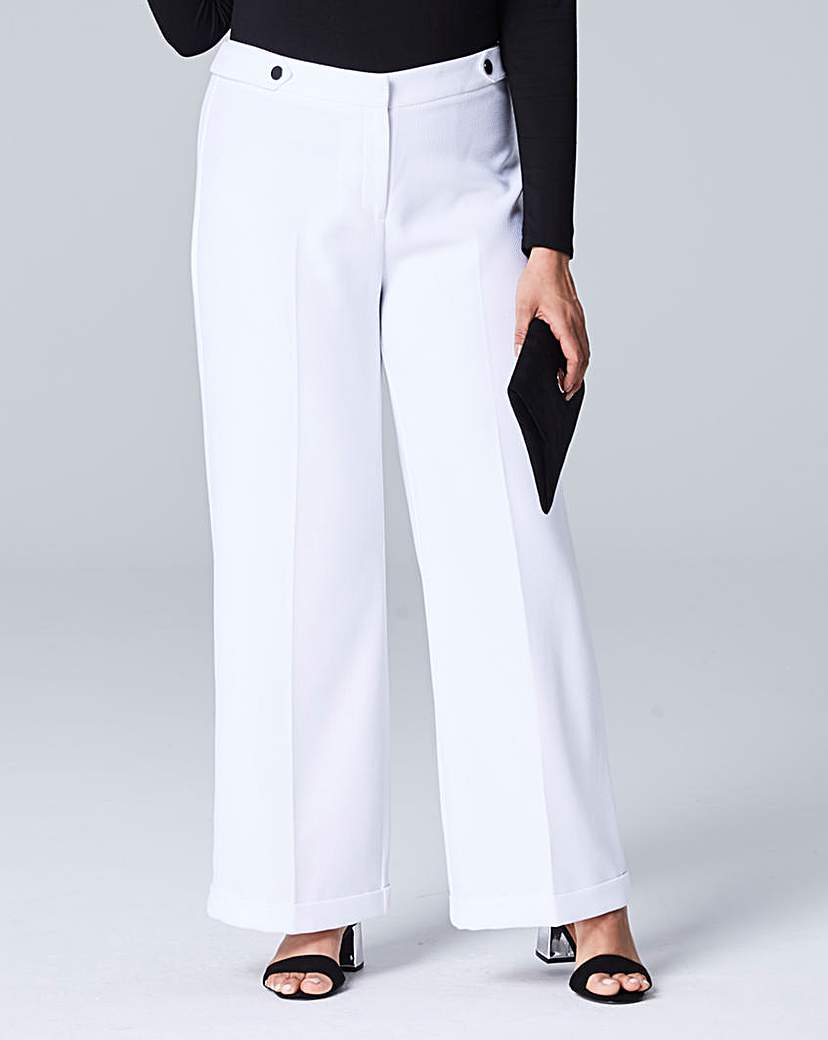 Textured Wide Leg Trousers Short.