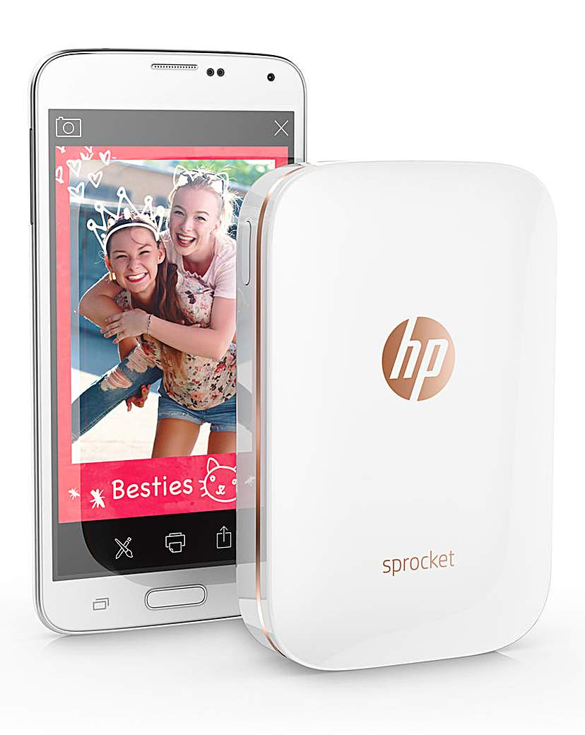 HP Sprocket Portable Photo Printer White