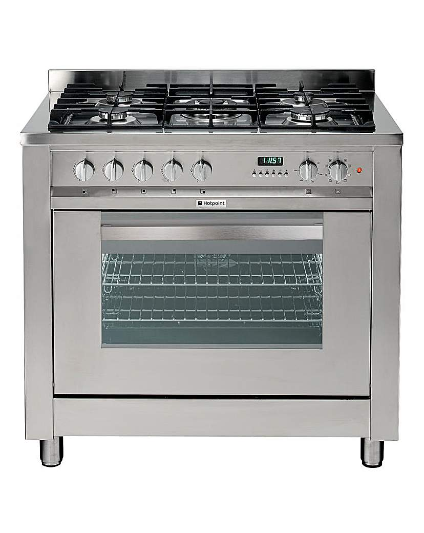 Hotpoint 90cm Dual Fuel Cooker Gas Hob