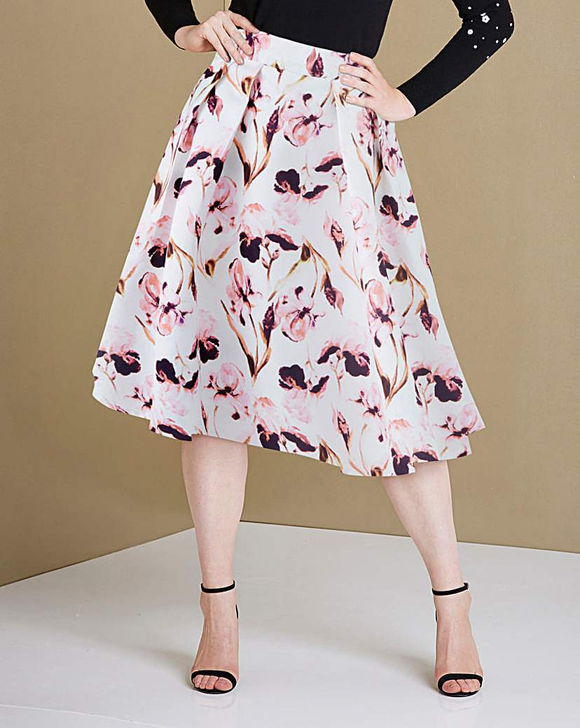 Image of Floral Print Prom Skirt with Pockets