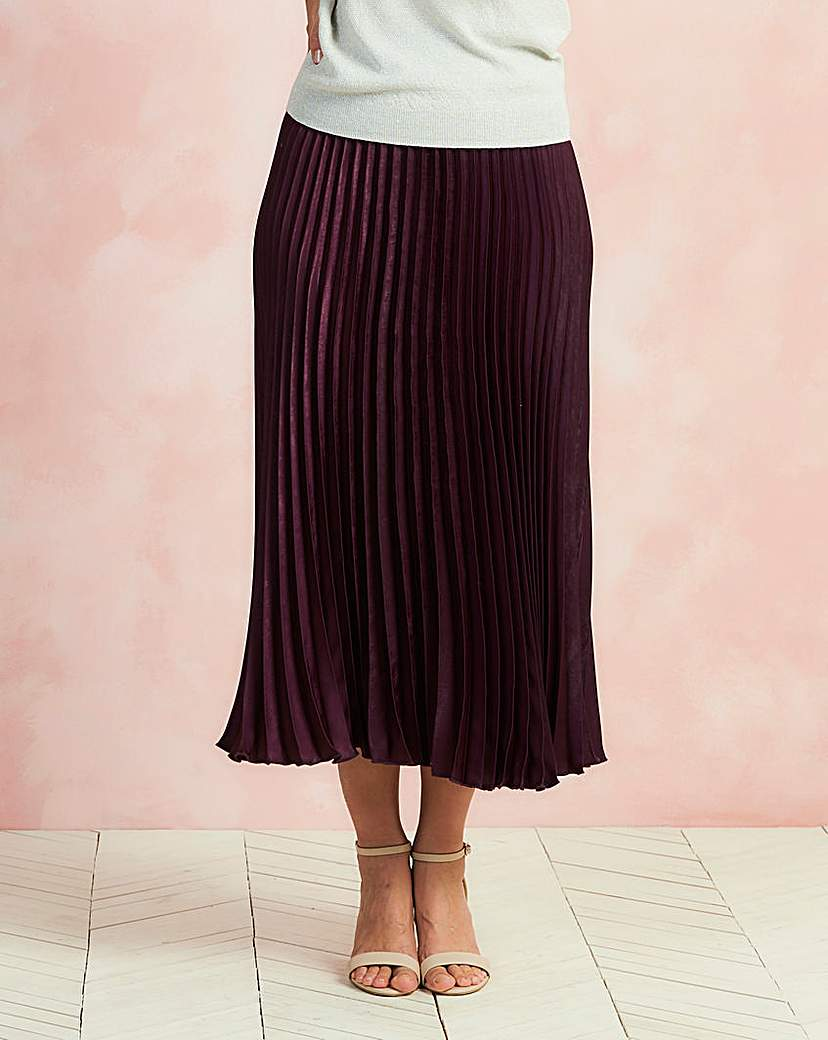 1920s Style Skirts Sunray Pleat Maxi Skirt £10.50 AT vintagedancer.com