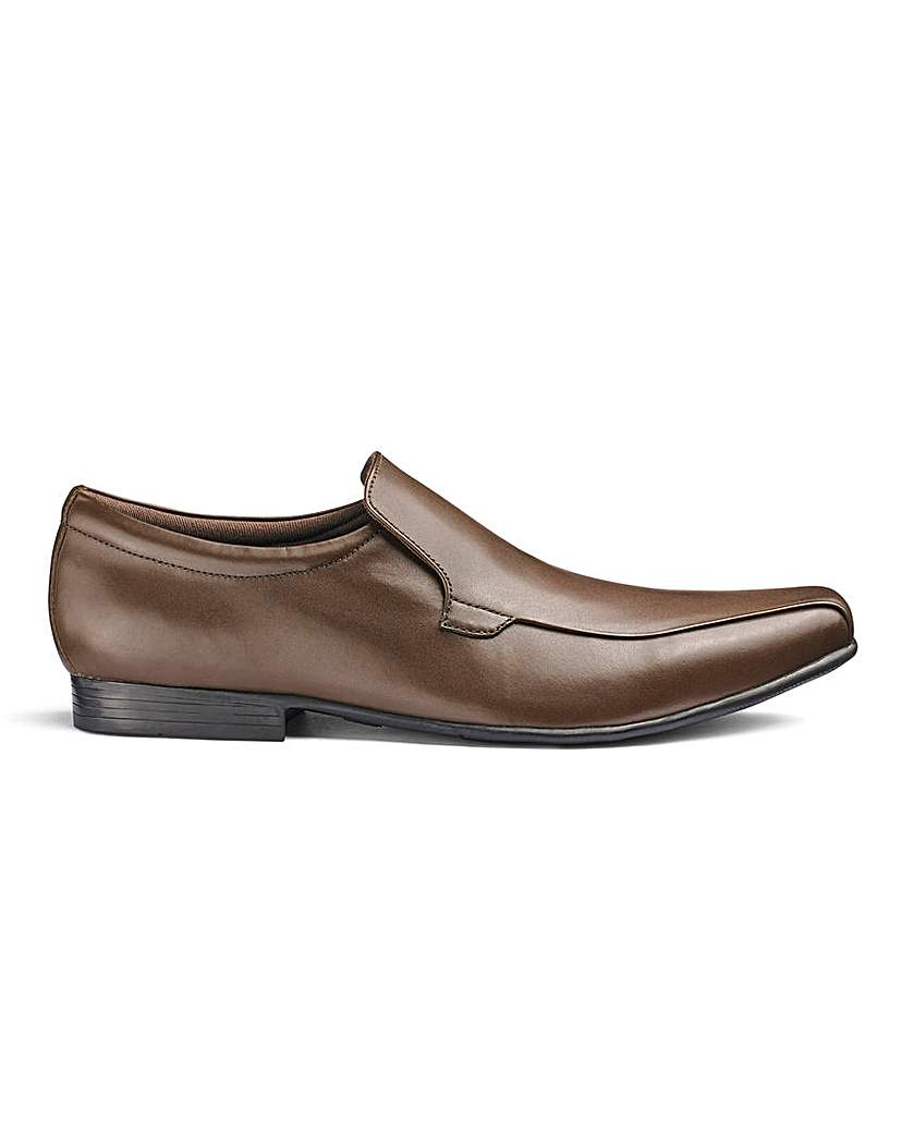 Leather Formal Slip On Shoe Ex Wide Fit