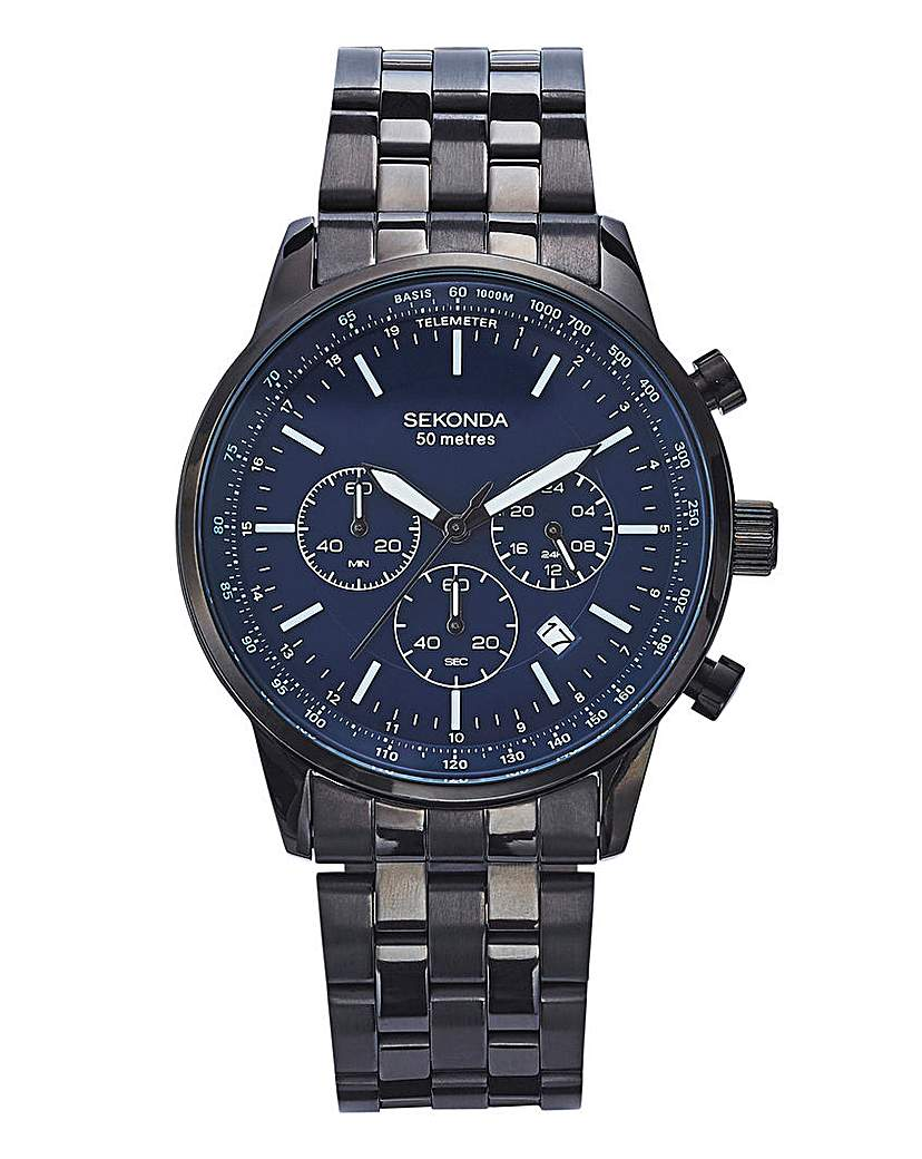 Sekonda Gents Black Bracelet Watch