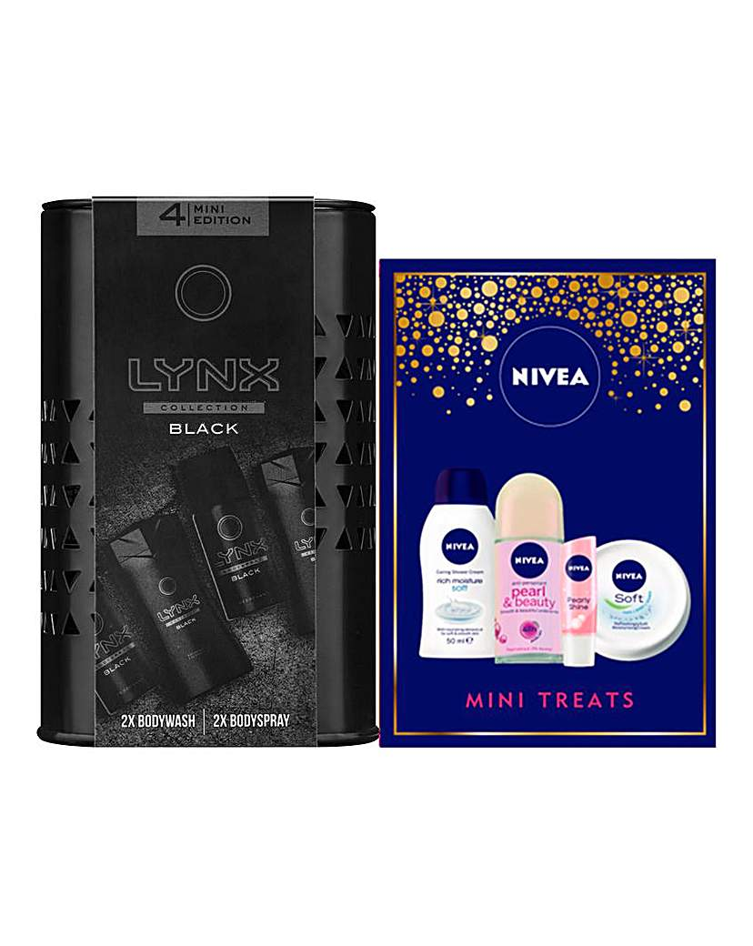 His and Hers Nivea and Lynx Mini Sets
