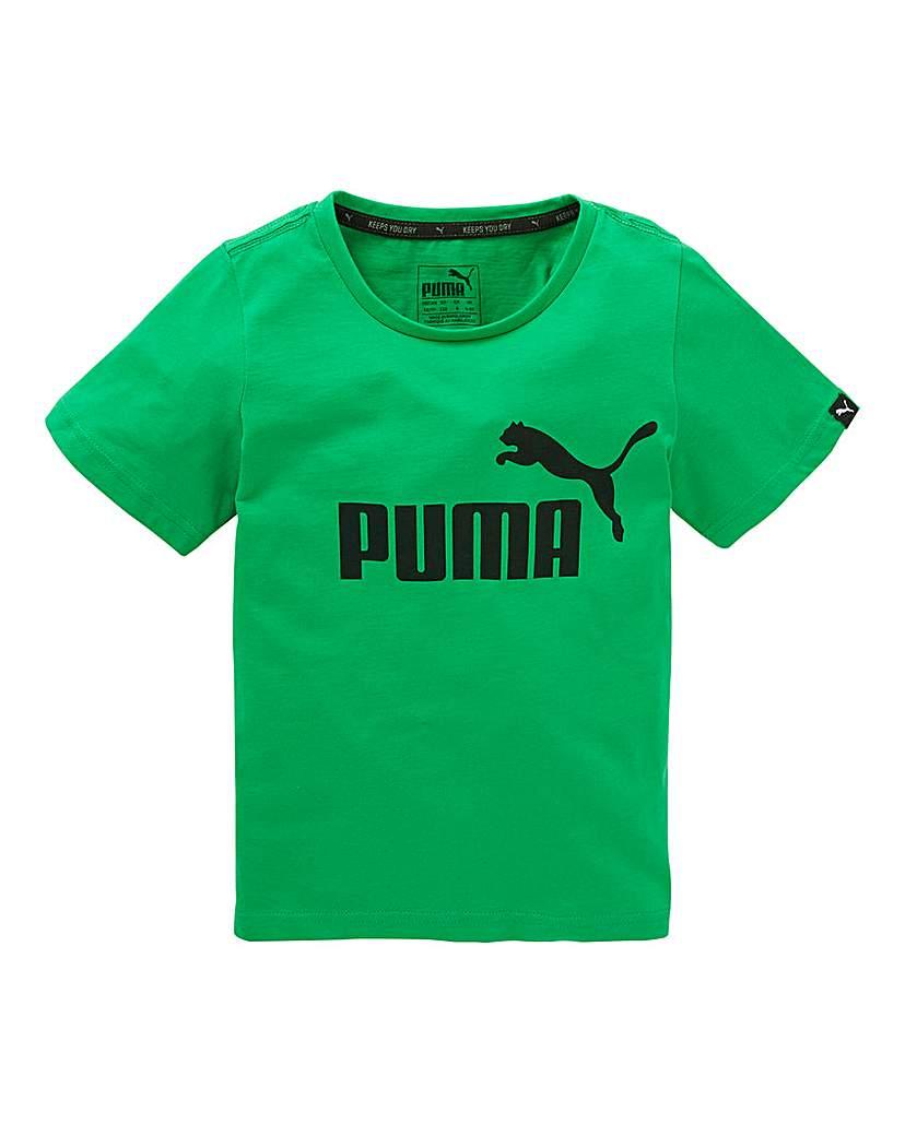 Puma Boys Essentials Green T-Shirt