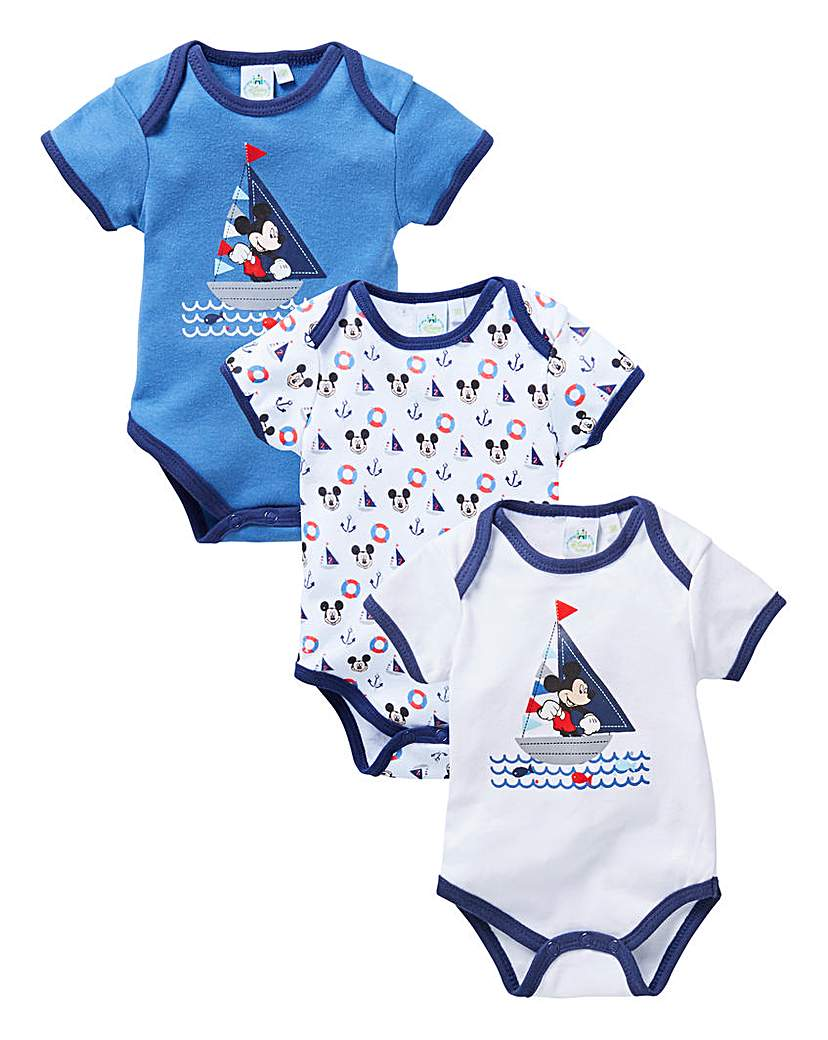 Image of Micky Mouse Pack of Three Bodysuits