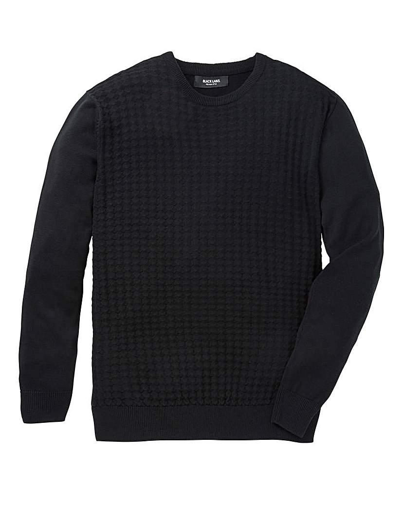 Black Label Texture Crew Neck Knit L