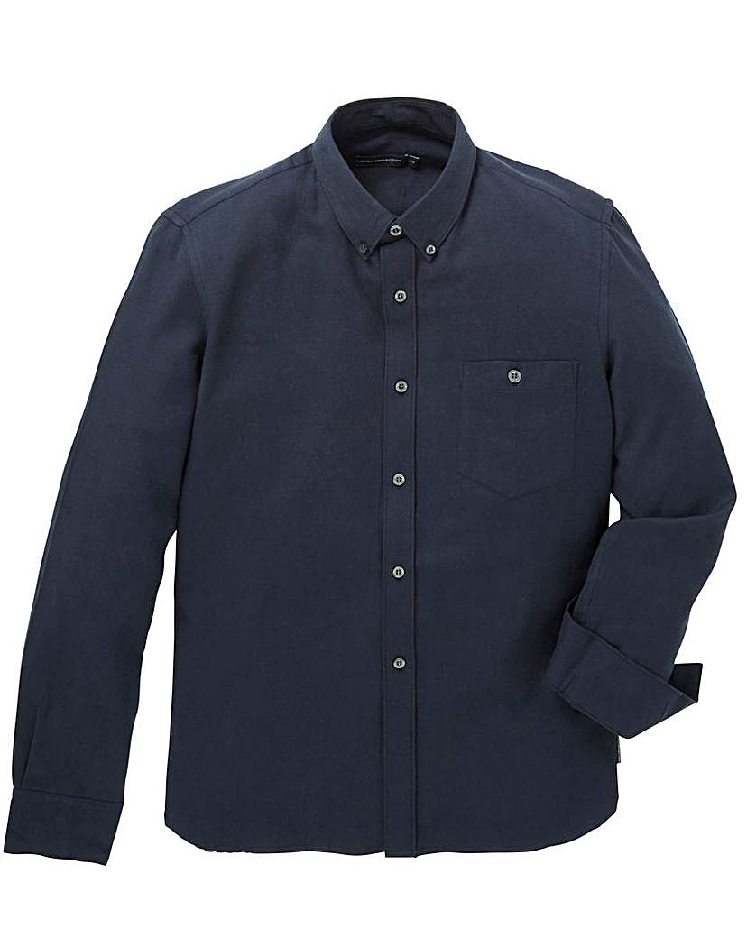 French Connection Navy Flannel Shirt