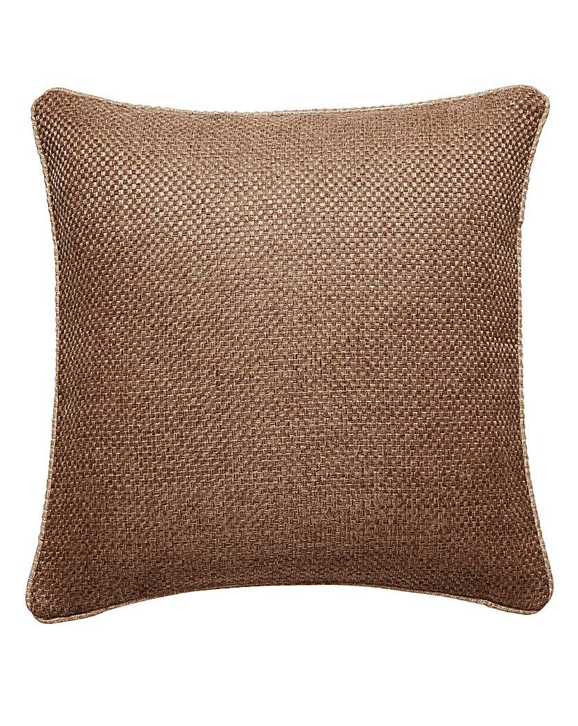 Image of Basket Weave Piped Edge Cushion Cover
