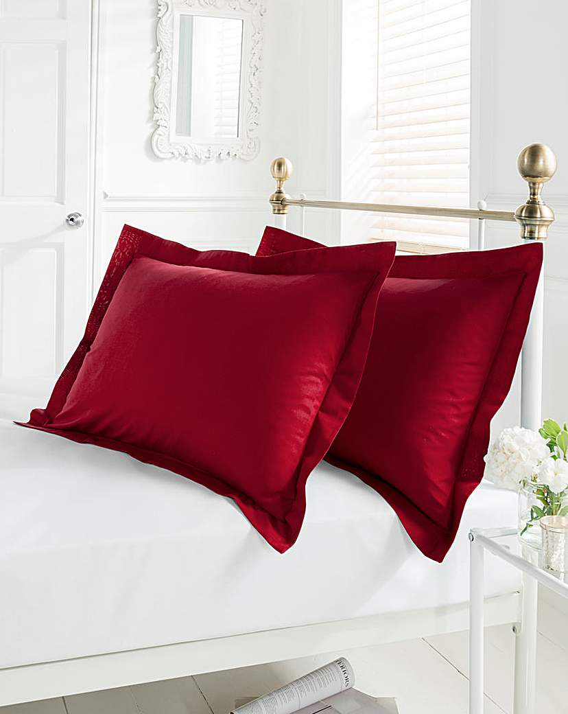 Easy-Care Plain-Dyed Oxford Pillowcases