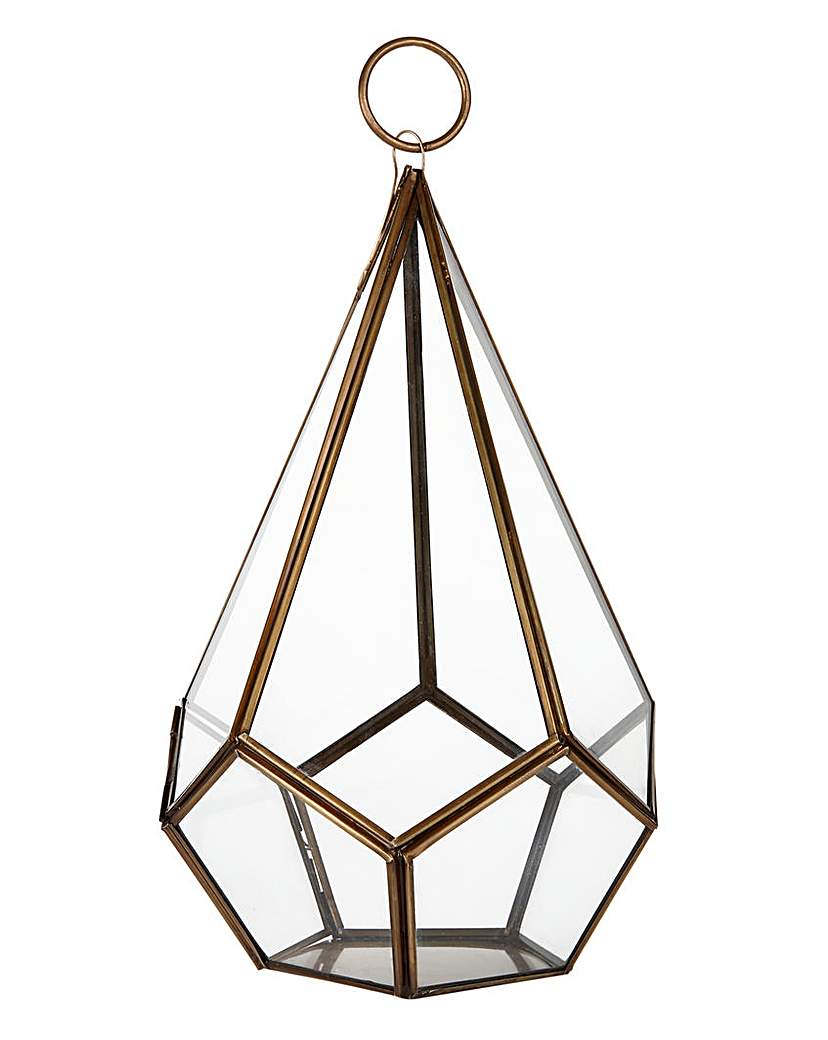 Image of Lorraine Kelly Brass and Glass Terrarium