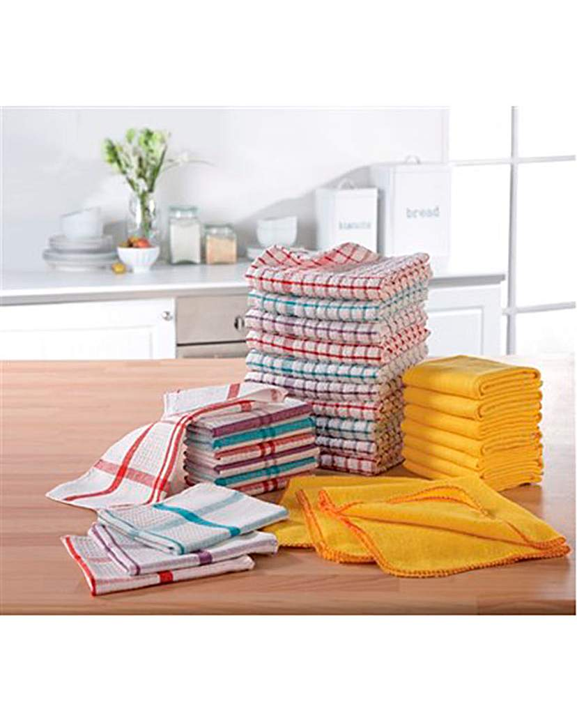 35 Piece Cleaning Towel Bumper Pack