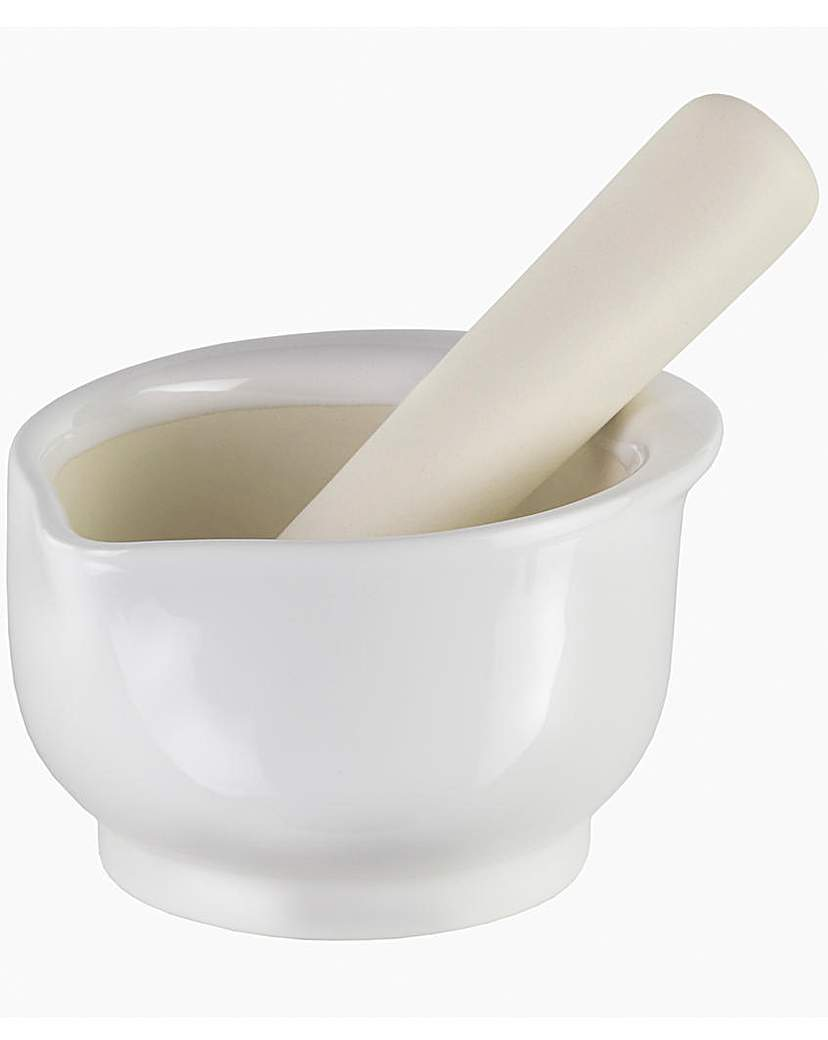 Image of Cole & Mason Ceramic Pestle& Mortar 14cm