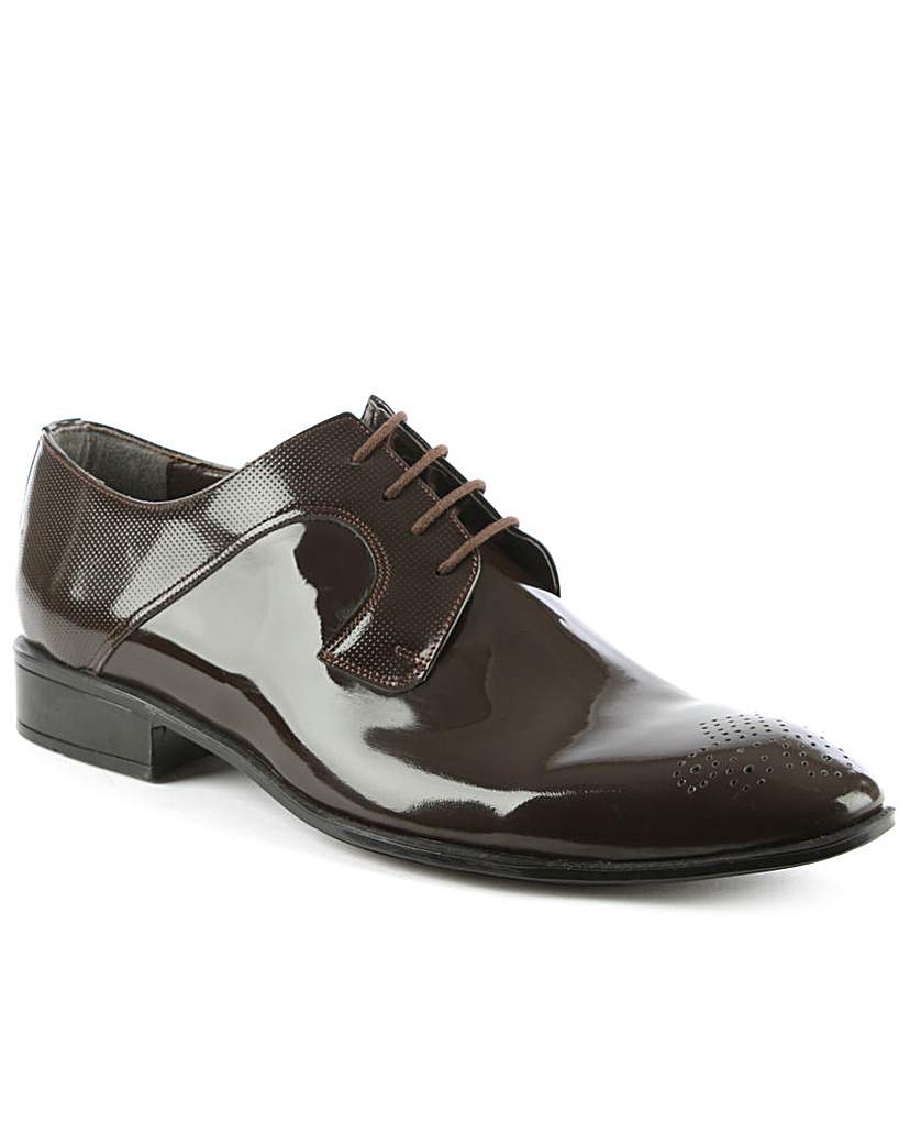 Image of Gucinari Brown Gloss Leather Dress Shoe