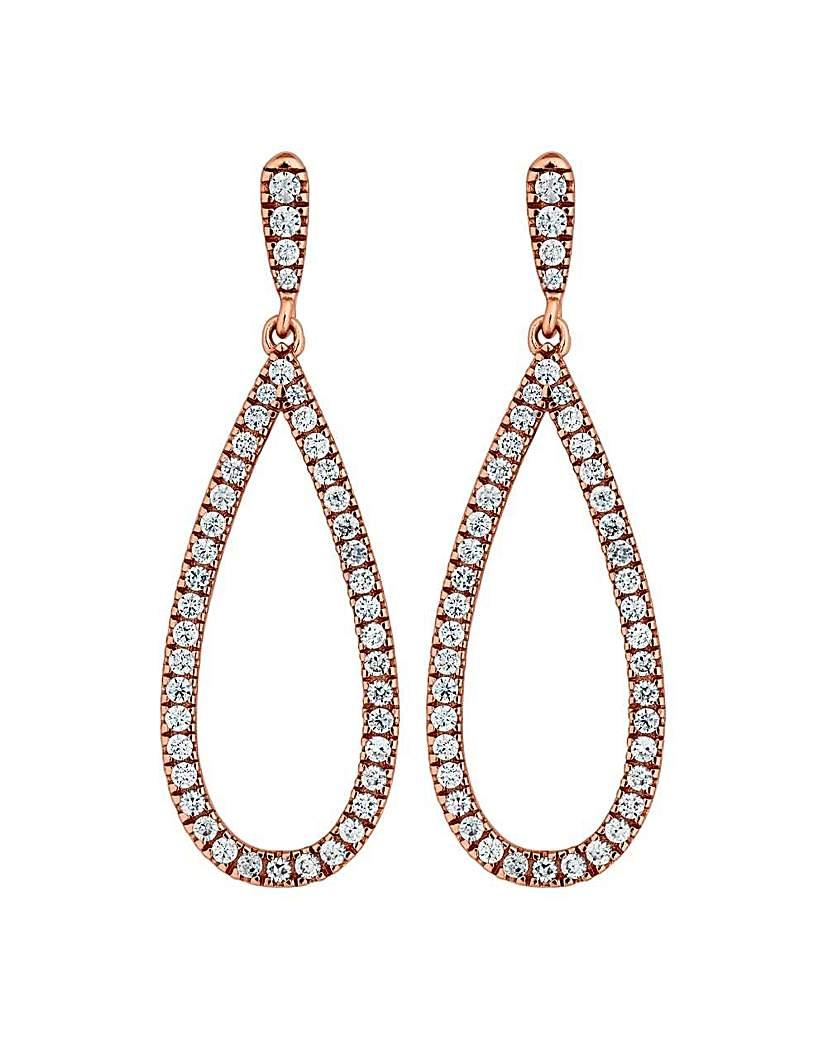 Image of Simply Silver pave earring