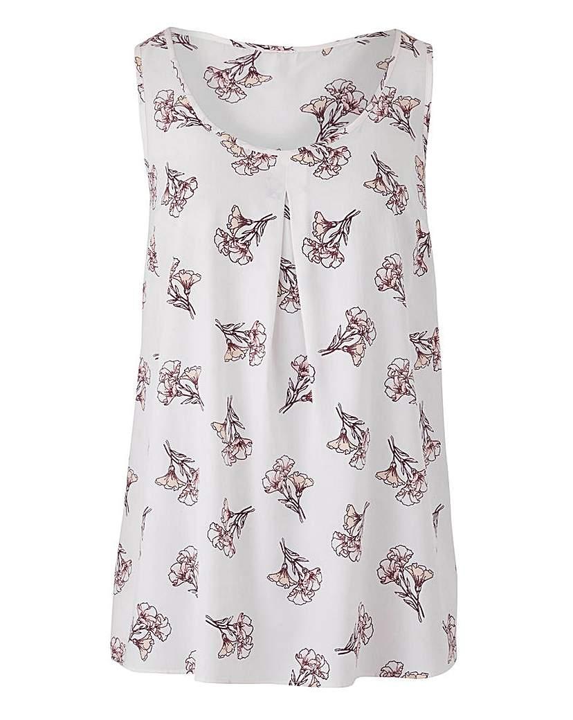 Ivory Printed Vest Top
