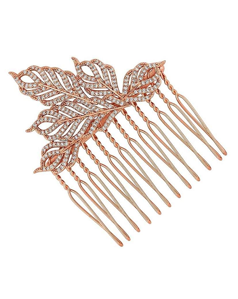 Jon Richard feather hair comb