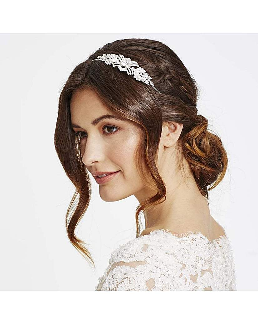 Jon Richard Pave Swirl Headband