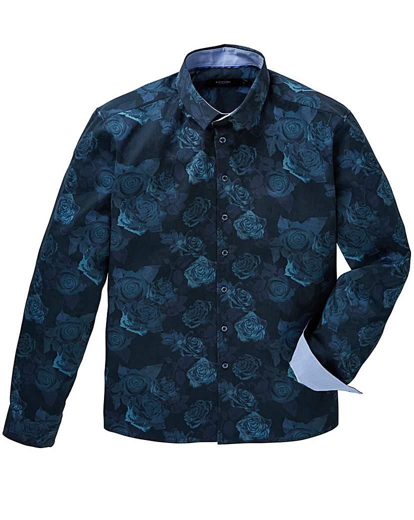 Black Label Floral Print Shirt