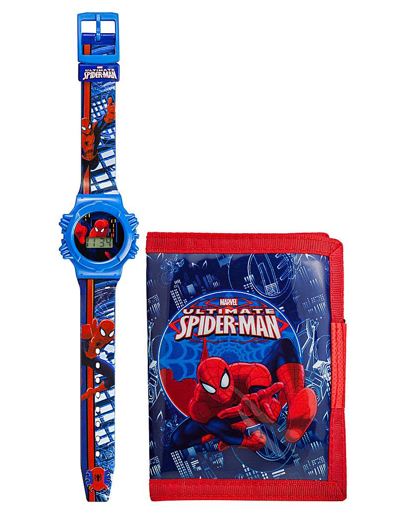 SPIDERMAN LCD WATCH + WALLET SET
