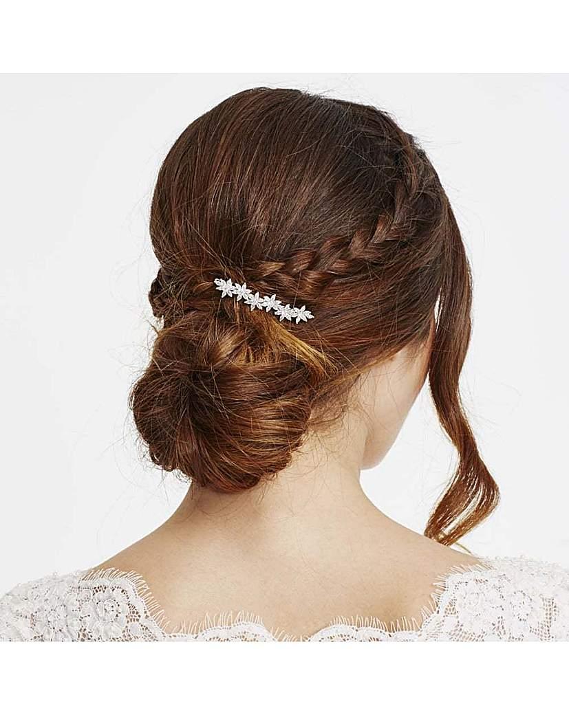 Image of Alan Hannah crystal flower hair clip