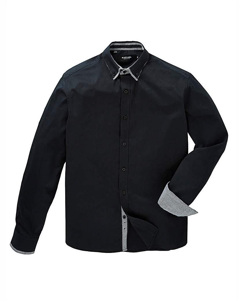 Image of Black Label Plain Double Collar Shirt