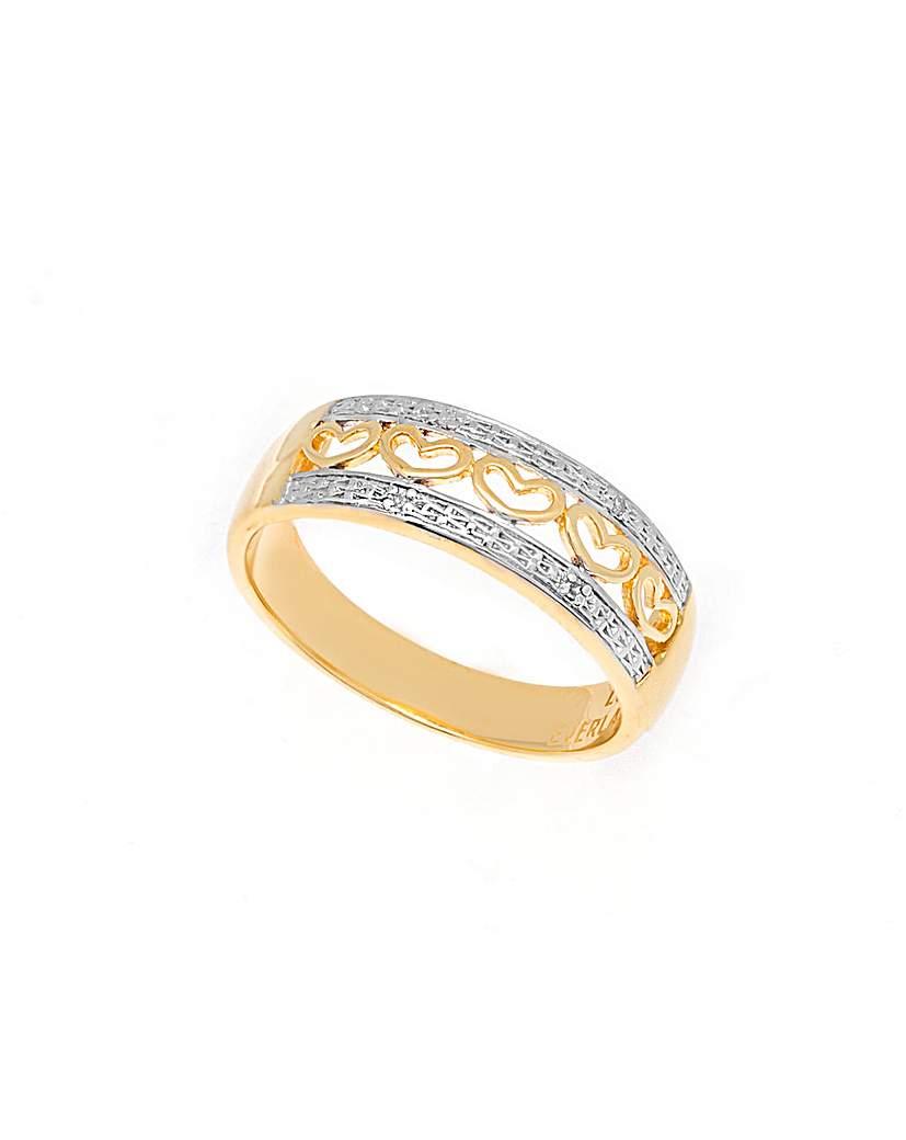Love Everlasting Diamond Hearts Ring
