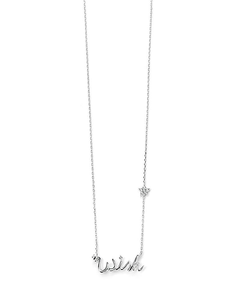 """Cubic Zirconia """"Wish"""" Necklace"""