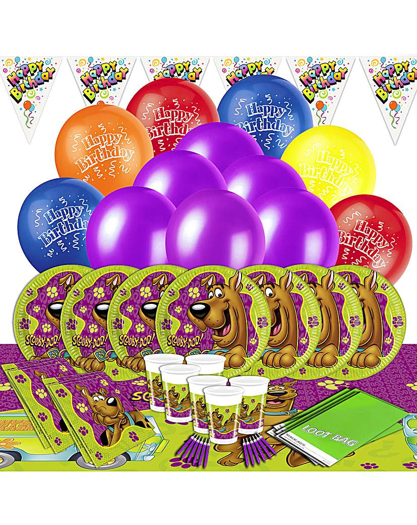 Product photo of Scooby doo ultimate party kit for 16