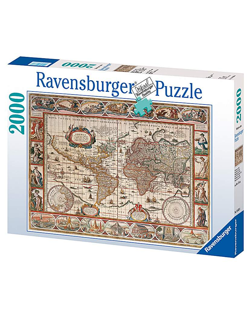 1650 Map of the World Jigsaw 2000 Piece