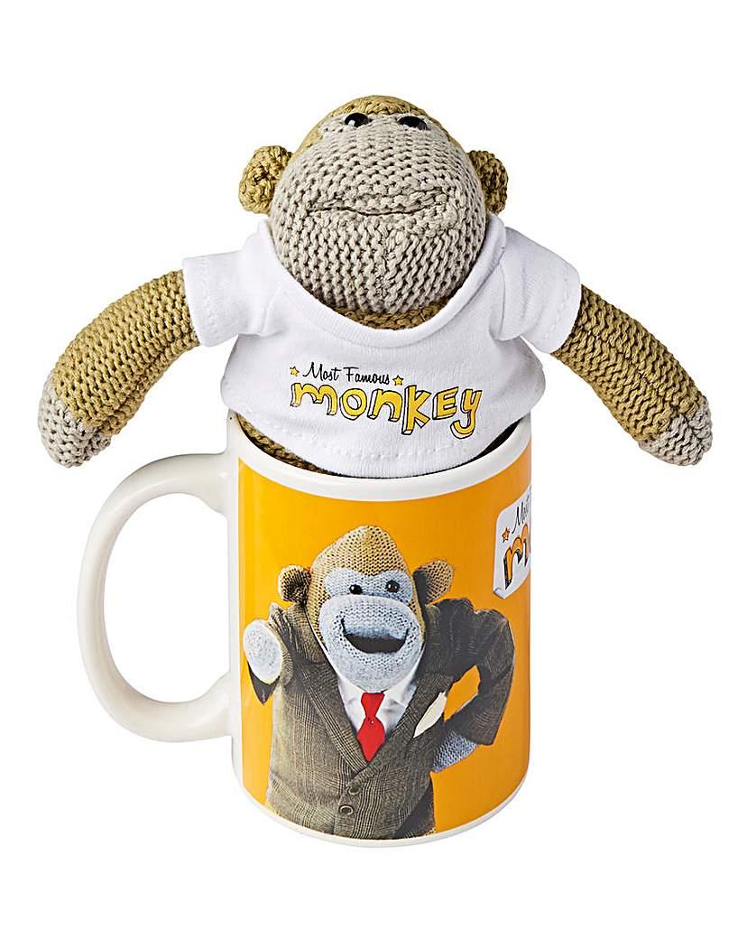 Monkey Mug and Plush Set