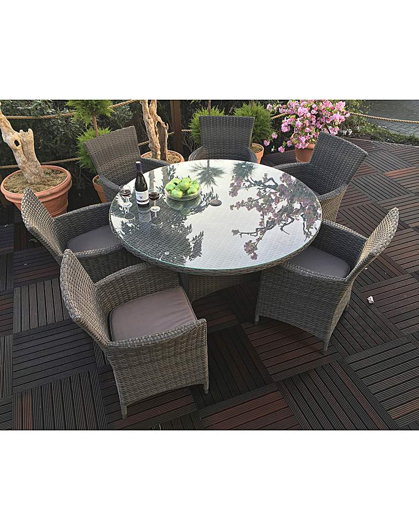 Image of Adelaide 6 Seat Round Rattan Dining Set