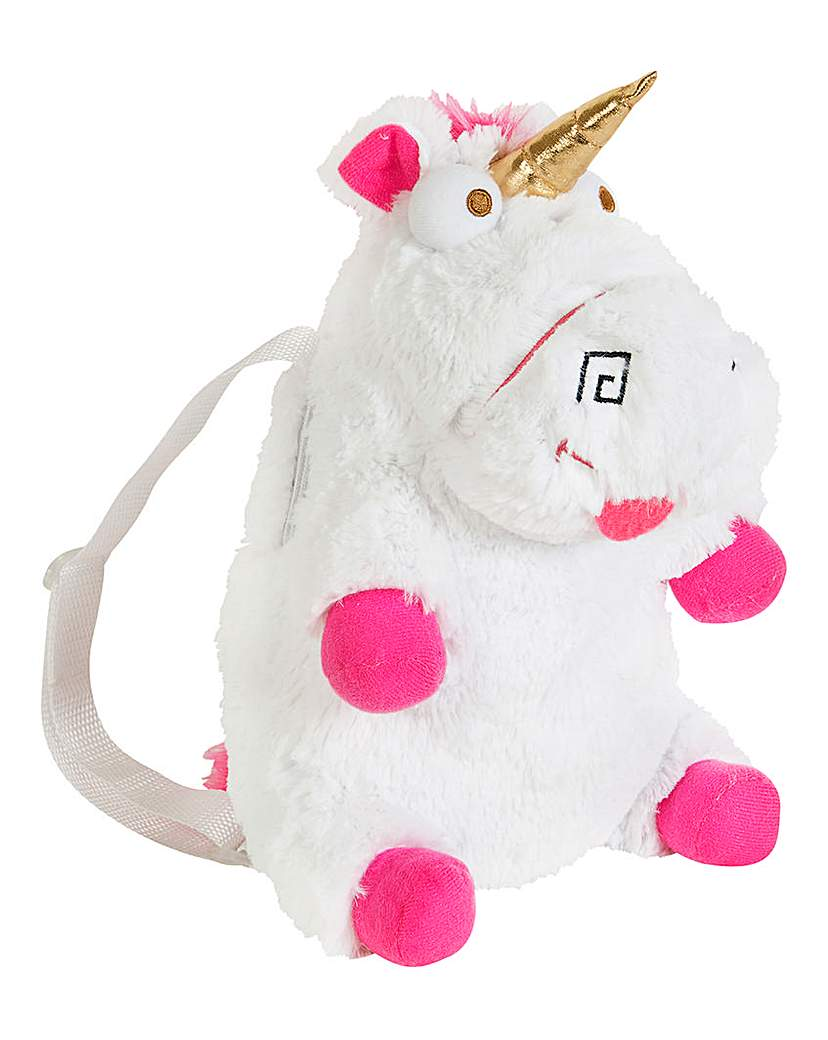 Fluffy Unicorn Plush Backpack