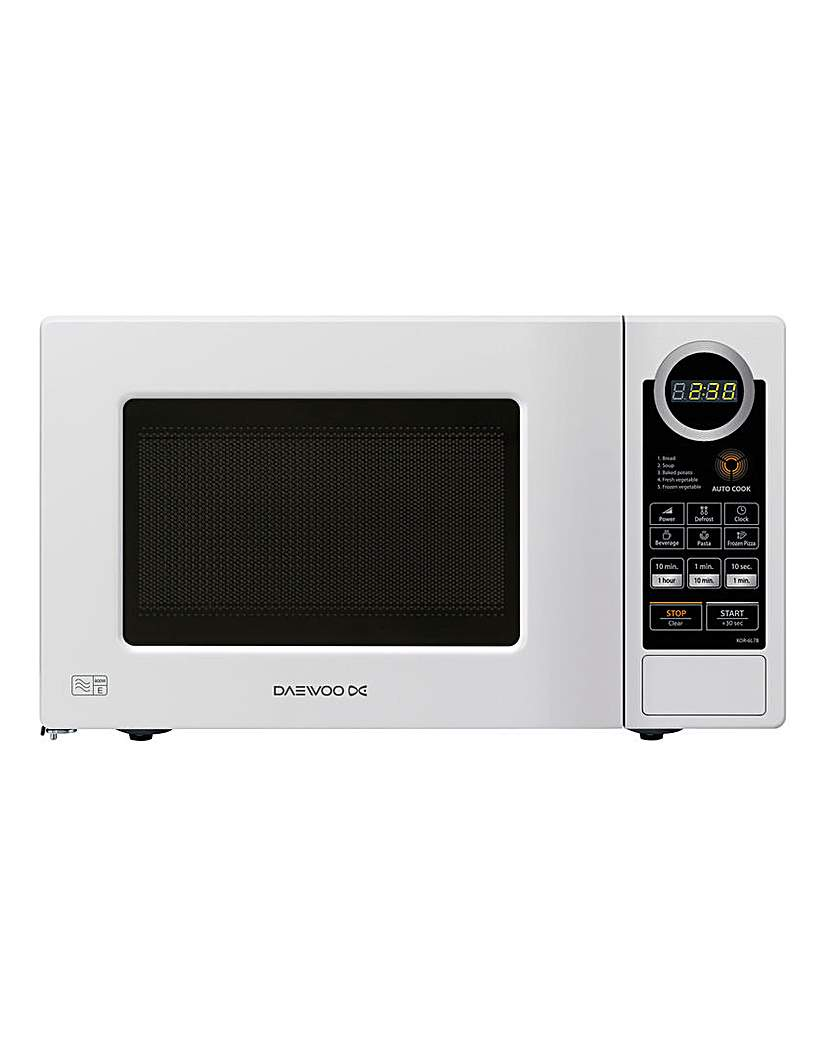 Image of Daewoo 700W 20L Touch White Microwave