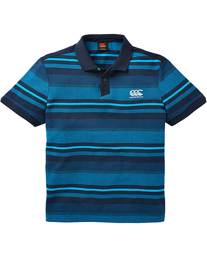Image of Canterbury Blue Jacquard Polo Regular