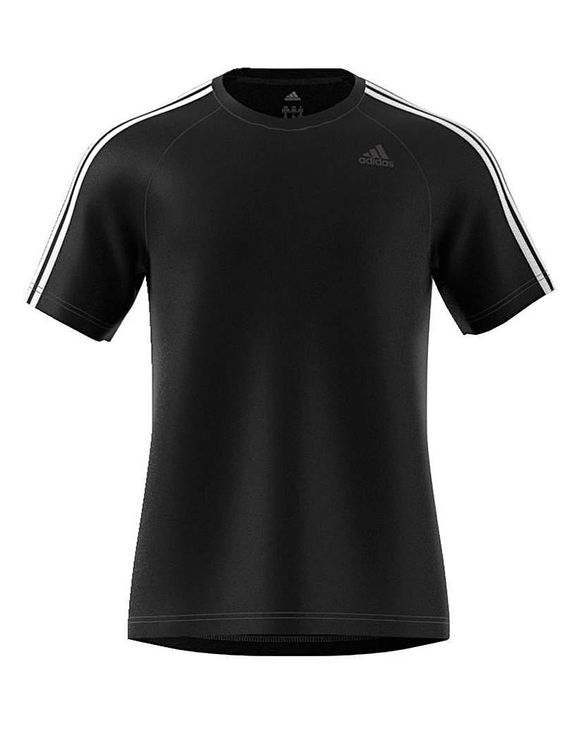 Image of adidas 3 Stripe Poly T-Shirt