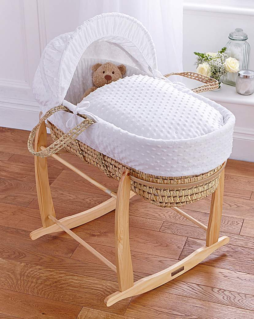 Image of Clair de Lune Dimple Palm Moses Basket