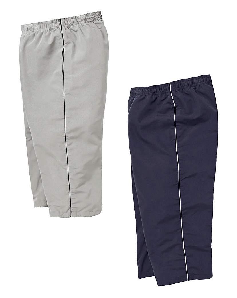 Capsule Pack of 2 3/4 Length Joggers