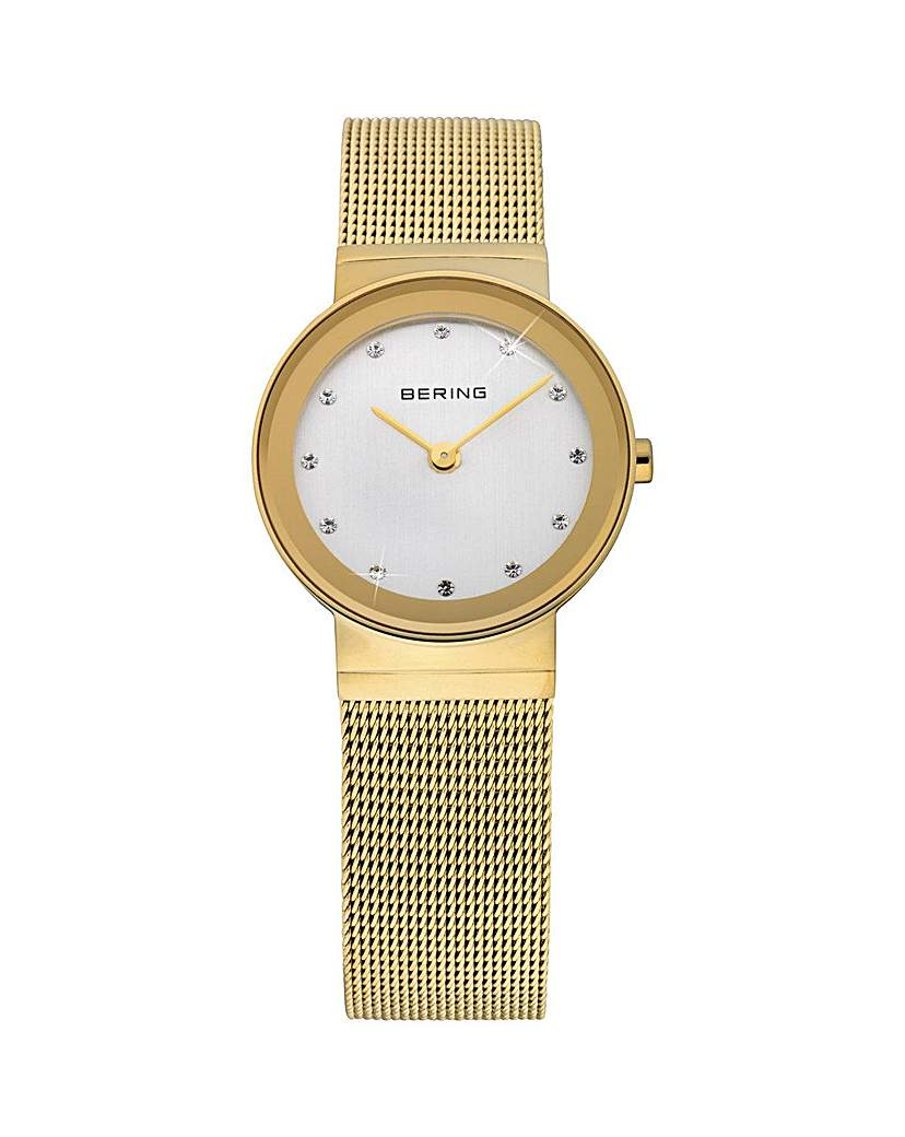 Image of Bering Ladies Gold Mesh Bracelet Watch