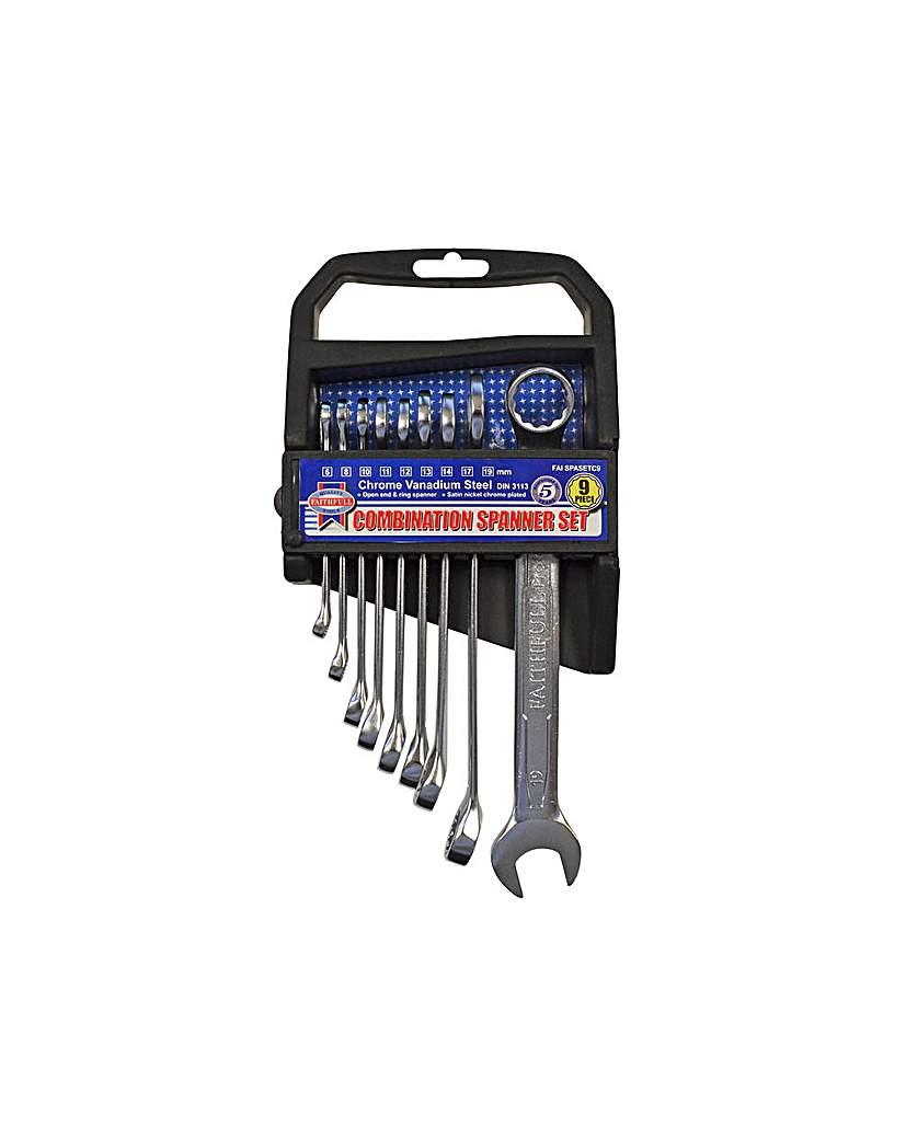 Comb Spanner Cv Set  9pc 6-19mm