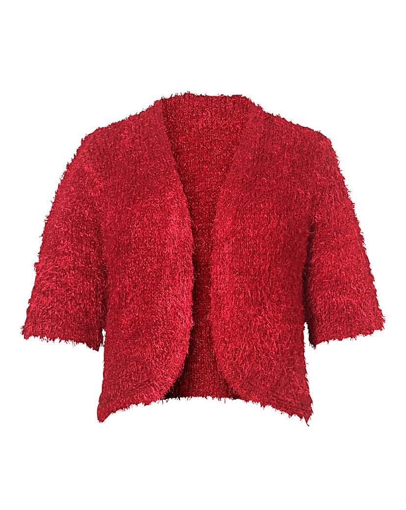 1950s Style Coats and Jackets Fluffy Edge to Edge Shrug £13.75 AT vintagedancer.com