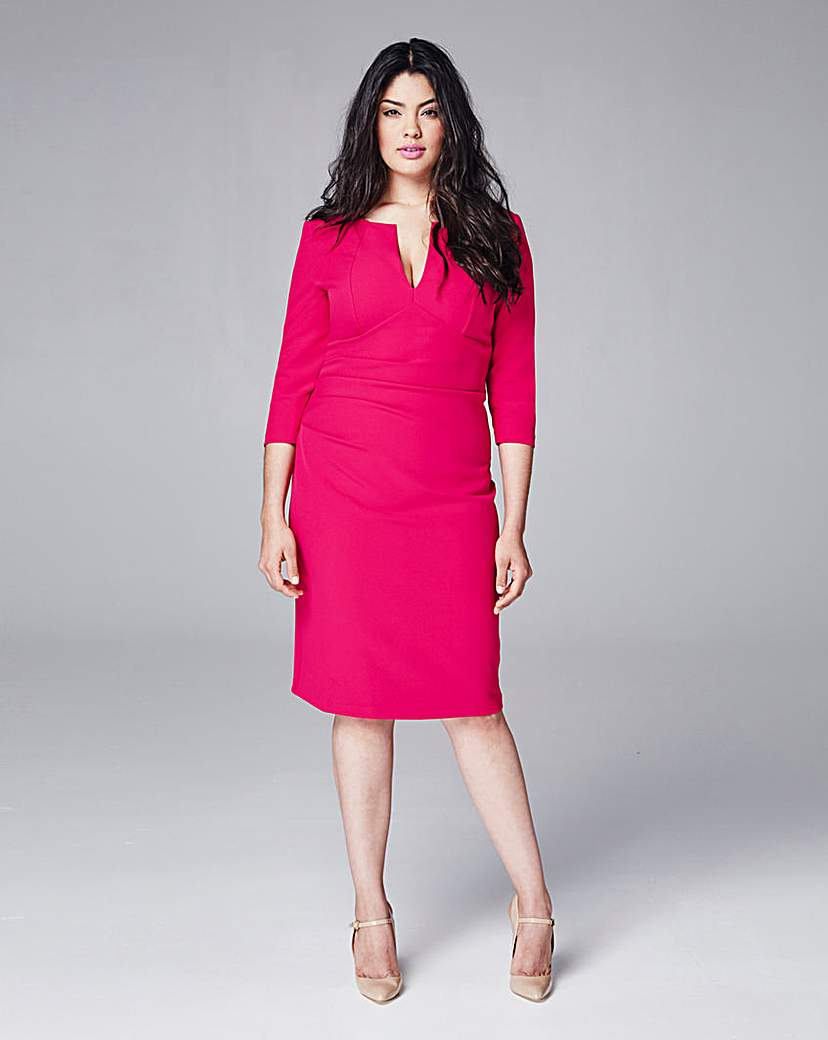 Eden Row Gathered Fitted Dress