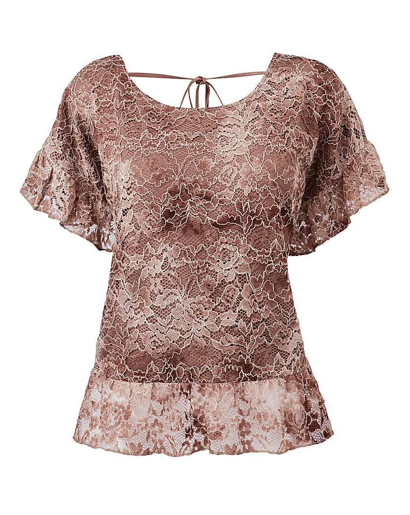 By Cream Lace Blouse