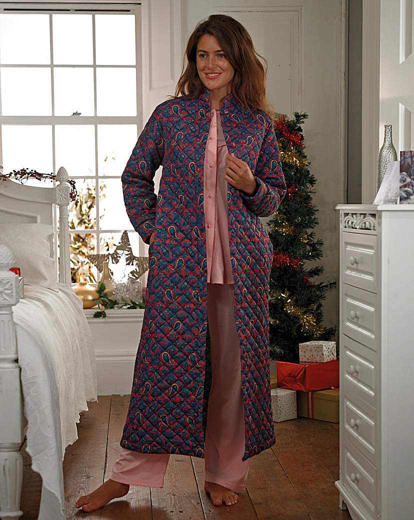 Quilted Paisley Housecoat