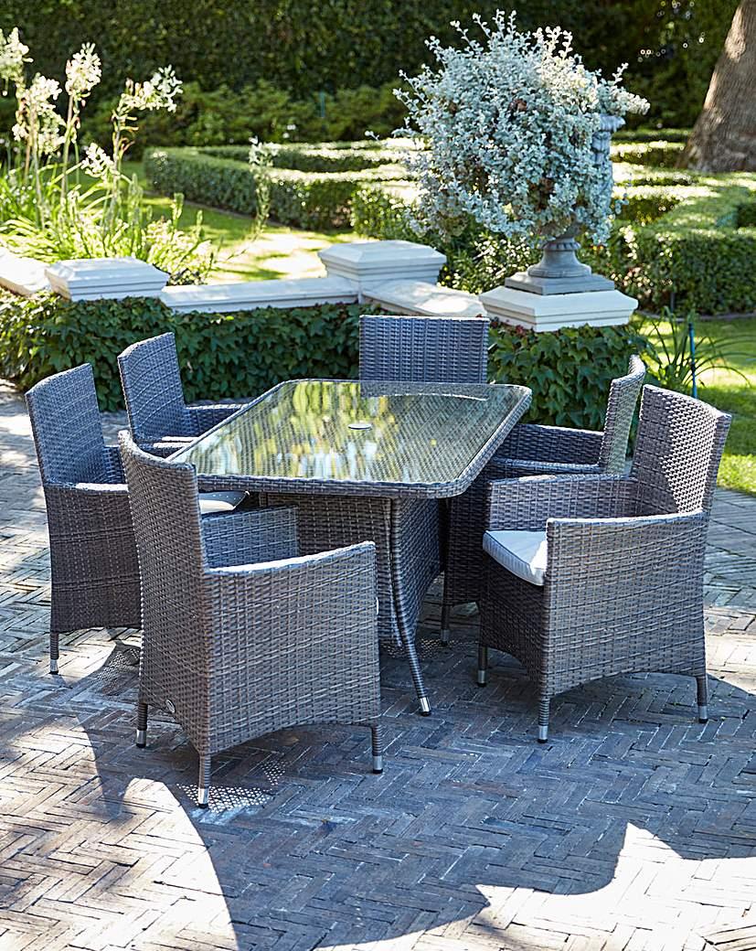 Image of Adelaide 6 Seat Rectangular Table Set