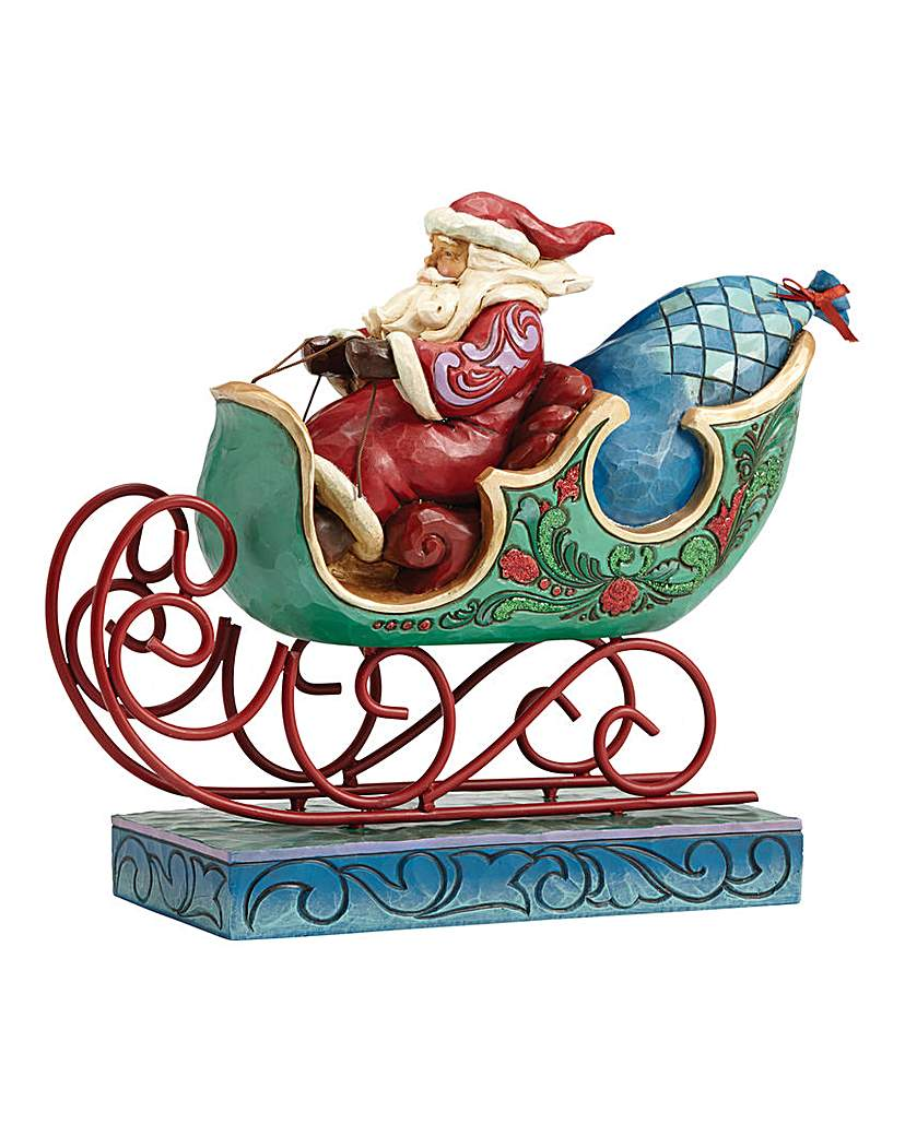 Image of Winter Wonderland Santa In Sleigh