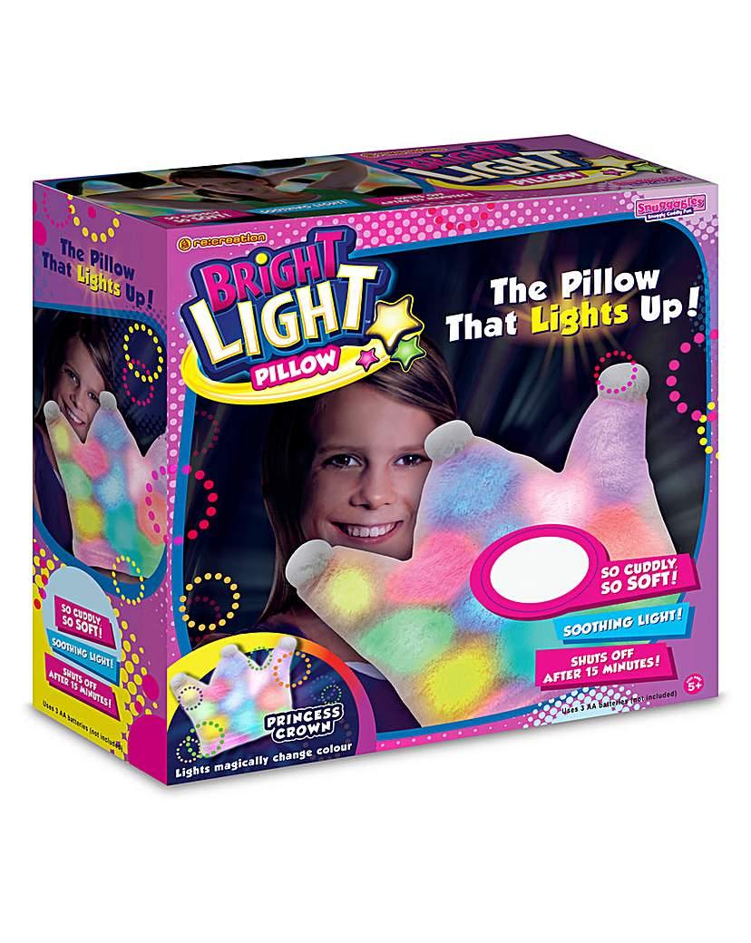 Image of Bright Lights Pillow Pink Princess Crown