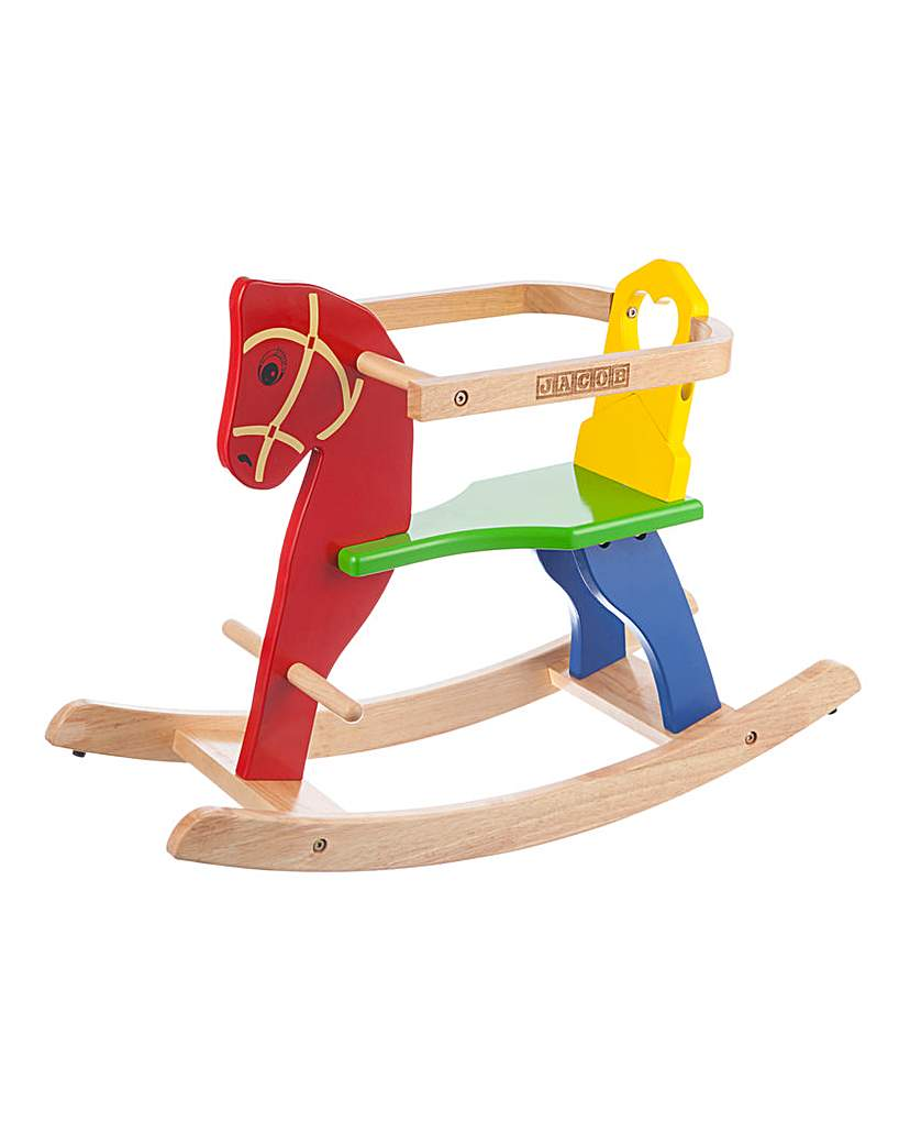 Image of Personalised Wooden Rocking Horse