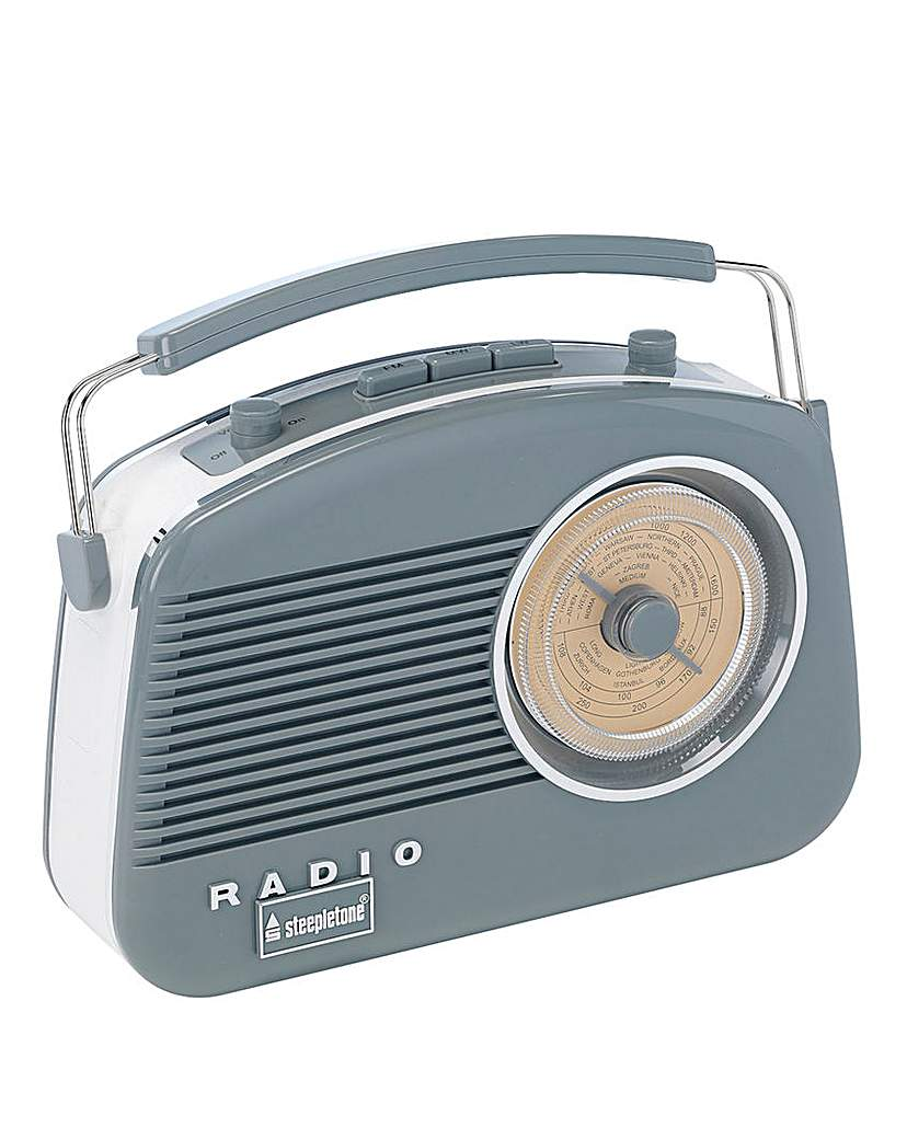 Steepletone Brighton Retro Radio Grey